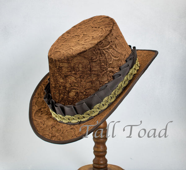 Tall Hat - Brown Chenille - Tall Toad