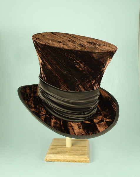 Mad Hatter - Brown Velvet - Tall Toad