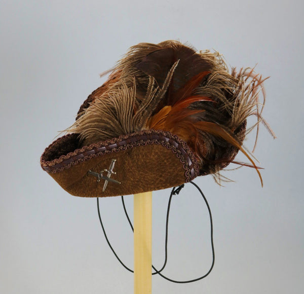 Brown Mini Tricorn with swords