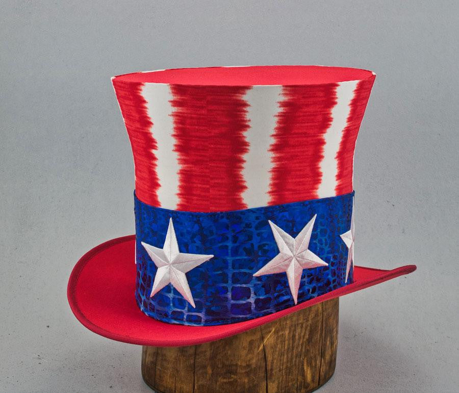 Uncle Sam Top Hat - Electric Stripe - Tall Toad
