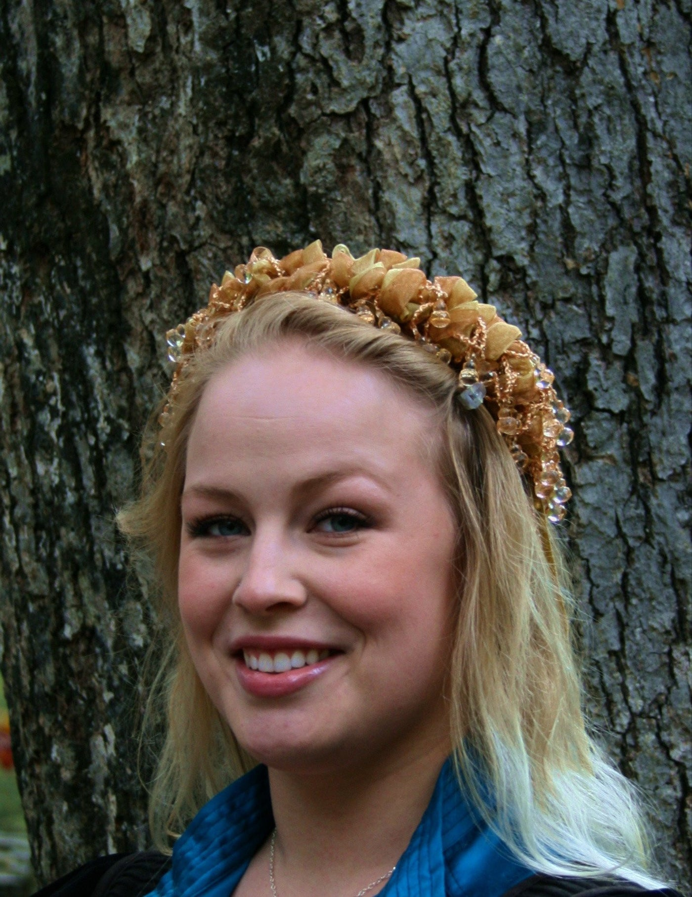 Beaded Headband - Gold - Tall Toad