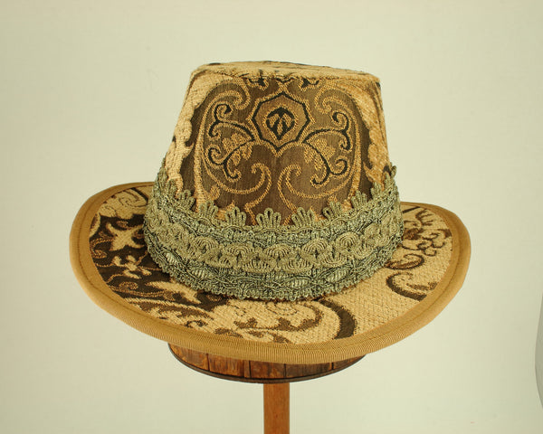 Tall Hat - Gold Brocade - Tall Toad