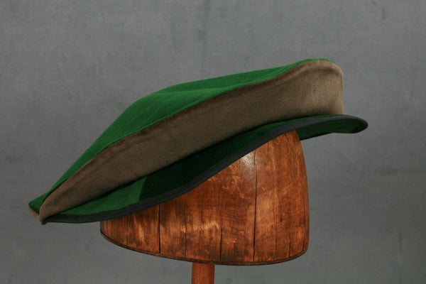 Cotton Velveteen Flat Cap - Green / Brown - Tall Toad