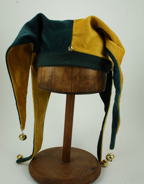 Jester Hat - Gold / Green - Tall Toad