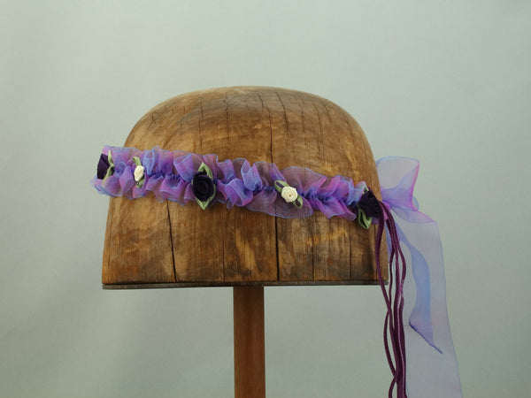 Isabella Ribbon Chapelet - Purple / Blue - Tall Toad