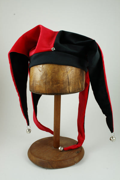 Jester Hat - Black / Red - Tall Toad