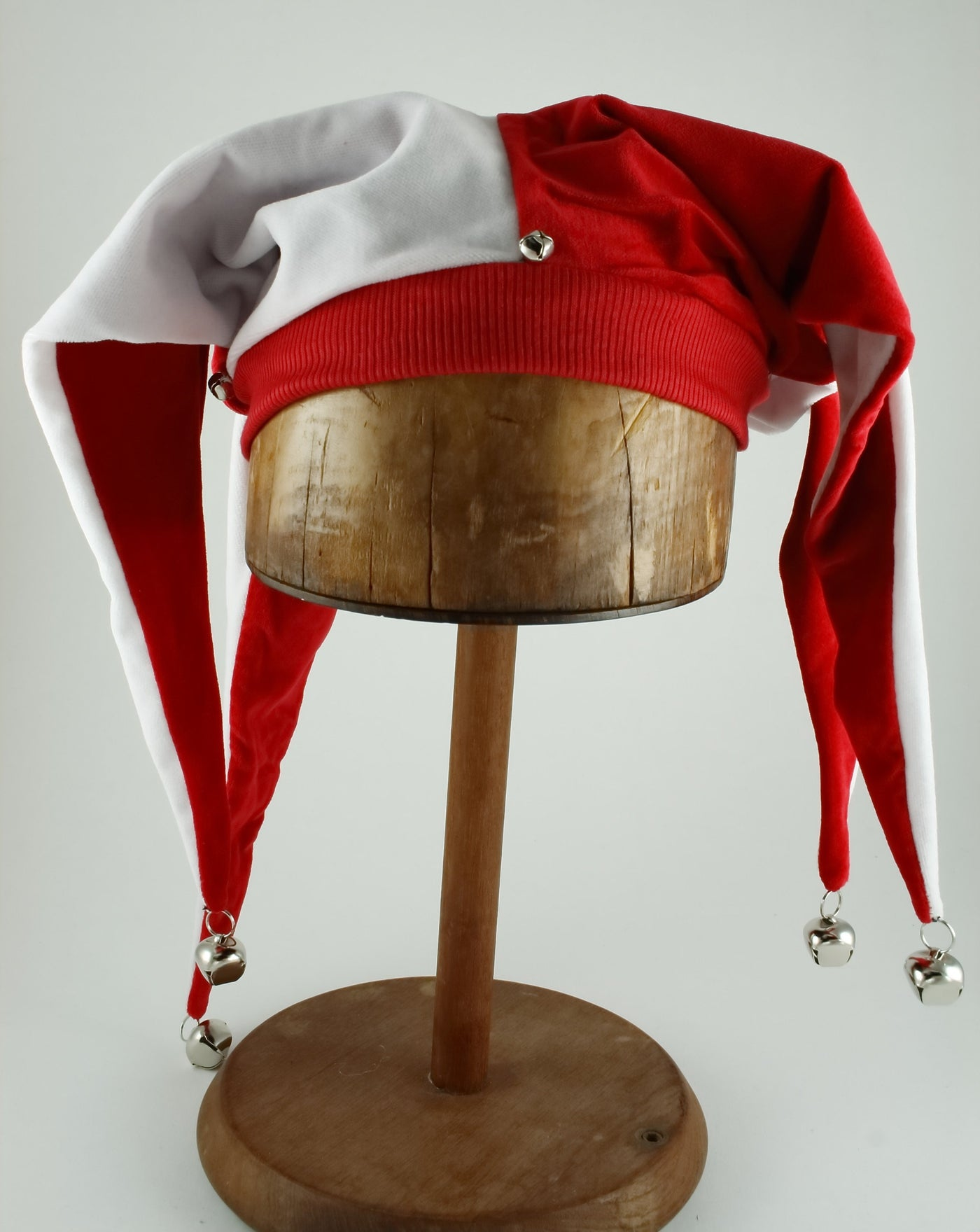 Jester Hat - Red / White - Tall Toad