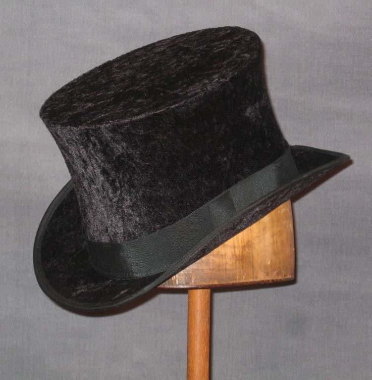 Top Hat - Black Crushed Velvet - Tall Toad