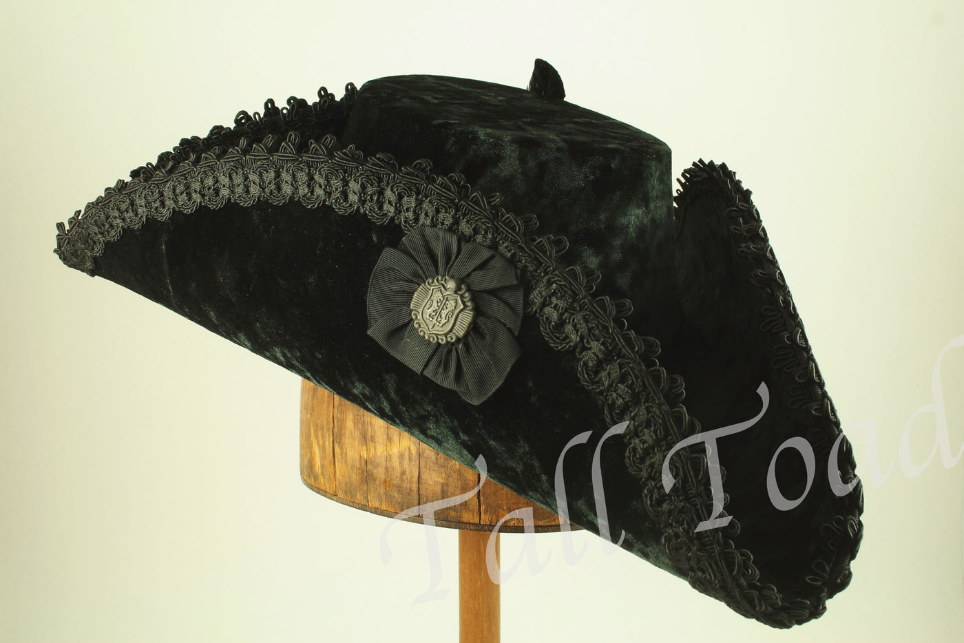 Tricorn - Black / Black Trim / Cockade - Tall Toad