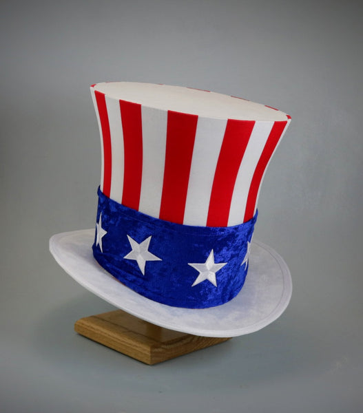 Uncle Sam Top Hat - Classic White Brim