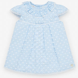 Paz Rodriguez Kai Chalk Blue Plumeti Dress