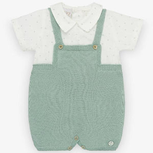Paz Rodriguez Cerezas Mint Green Knitted Romper