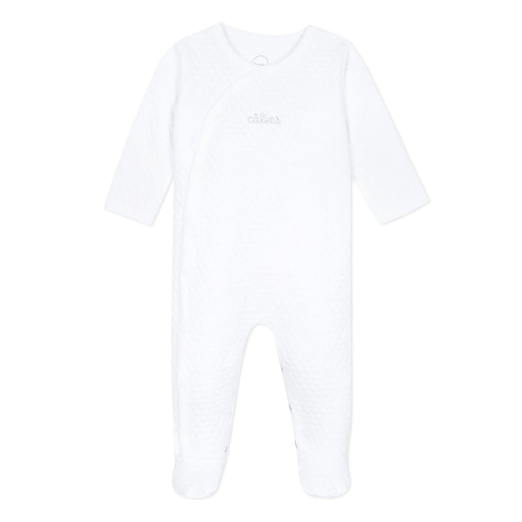 Quilted White Sleepsuit