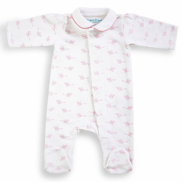 Magnet Cotton Sleepsuit - Pink Mouse