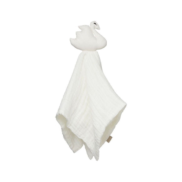 Swan Cuddle Cloth - GOTS Off-White