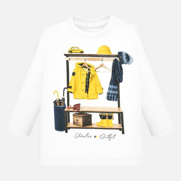 Mayoral Winter Outfit Cream T-shirt