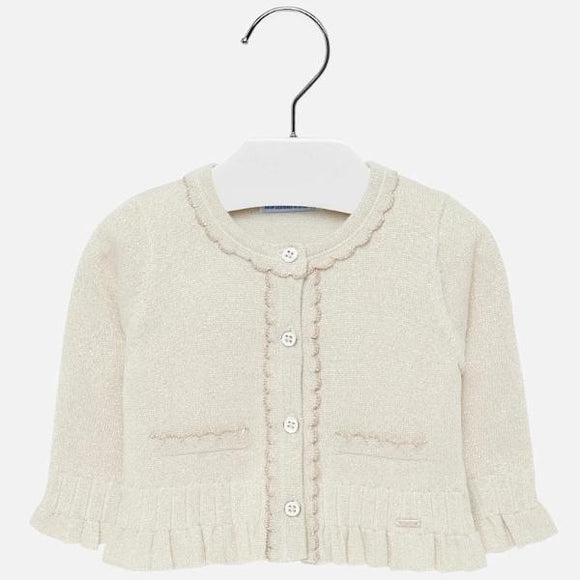 Mayoral Scallop Edge Sand Cardigan