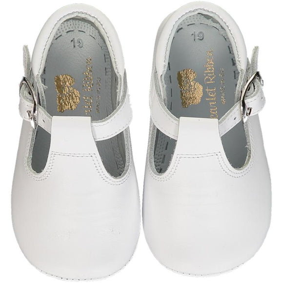 T-Bar White Shoes