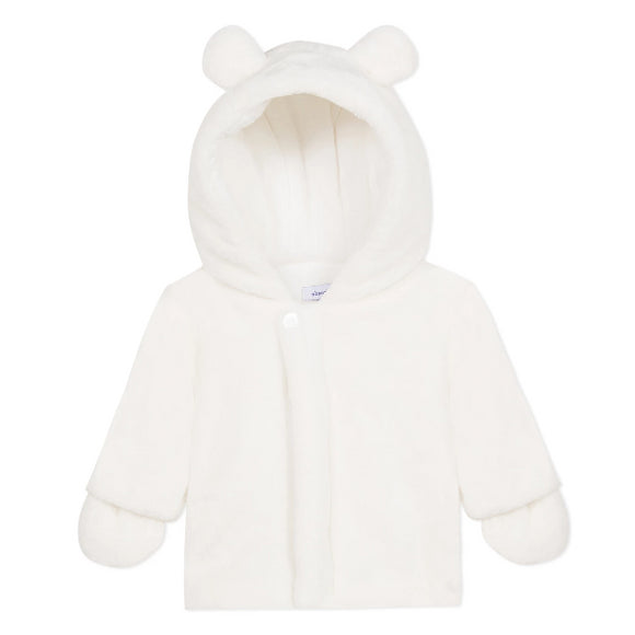 Absorba Furry Hooded Cream Coat