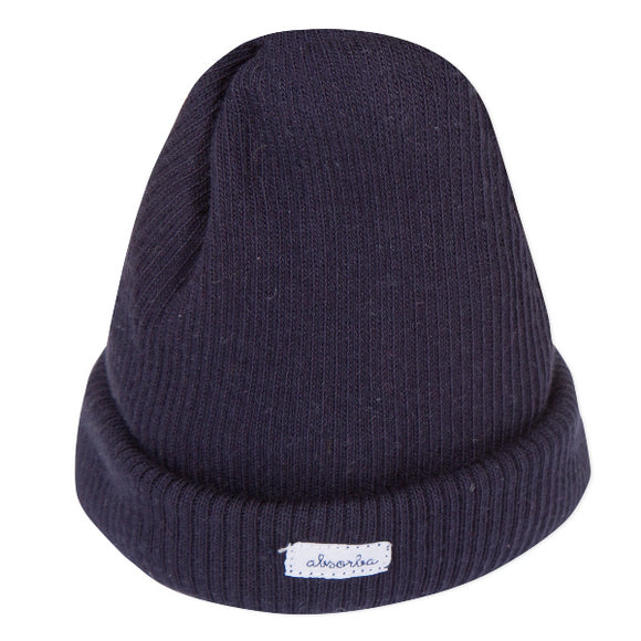 Absorba Ribbed Cotton Navy Hat