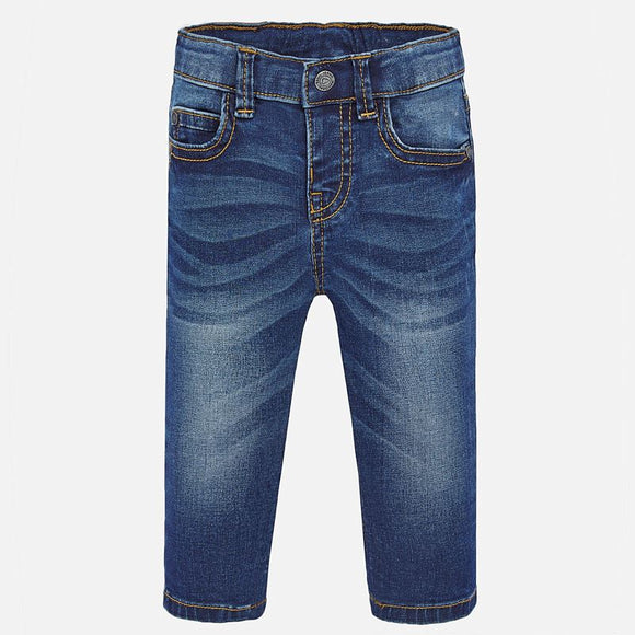 Slim Fit Dark Blue Denims
