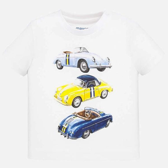 Mayoral Cars White T-shirt
