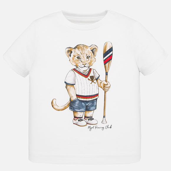 Rowing Club Lion White T-shirt - 6 months