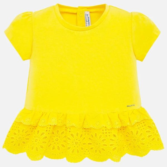 Mayoral Broderie Yellow Blouse