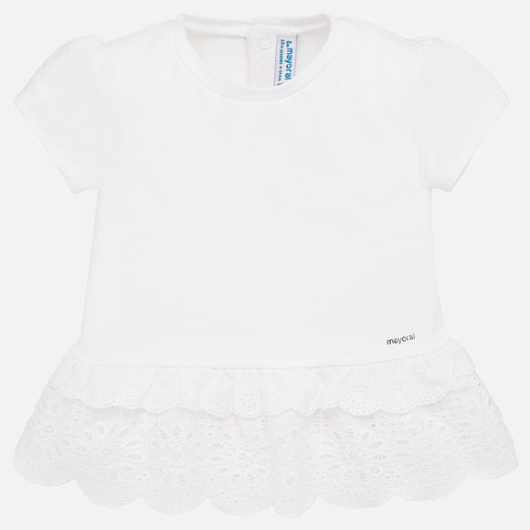 Broderie White Blouse