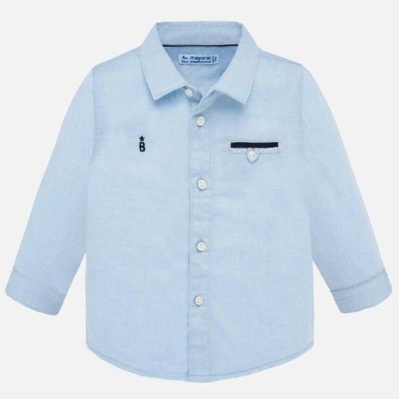 Mayoral Diamond Pattern Blue Shirt