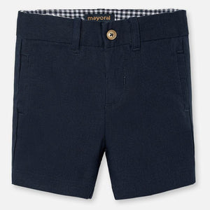 Gingham Navy Shorts