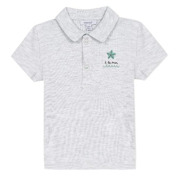 Absorba Star Grey Polo T-shirt