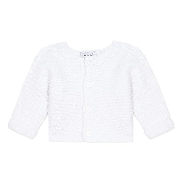 Absorba Garter Knit White Cardigan