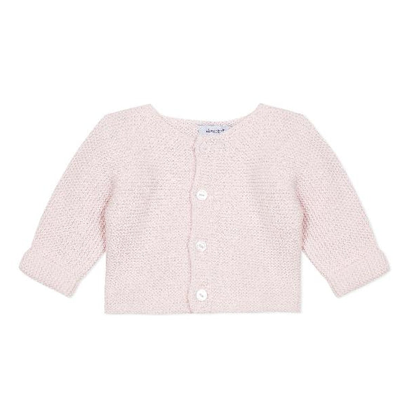 Absorba Garter Knit Rose Cardigan