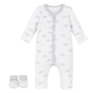 Absorba Clouds White Playsuit Set