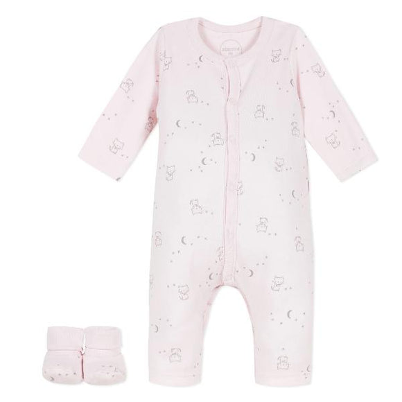 Absorba Cats Pink Playsuit Set