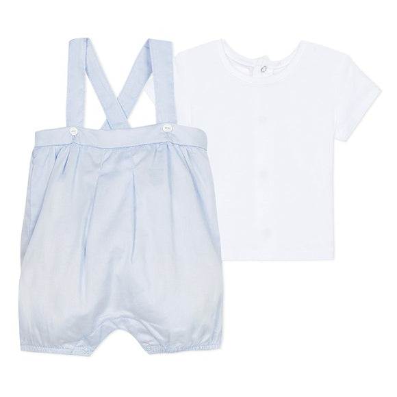 Absorba Aquarelle Blue Dungaree Set