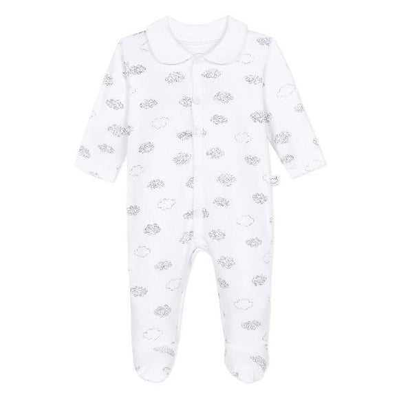 Absorba Clouds Collar White Sleepsuit