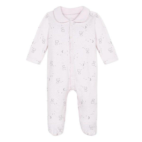 Absorba Cats Collar Pink Sleepsuit