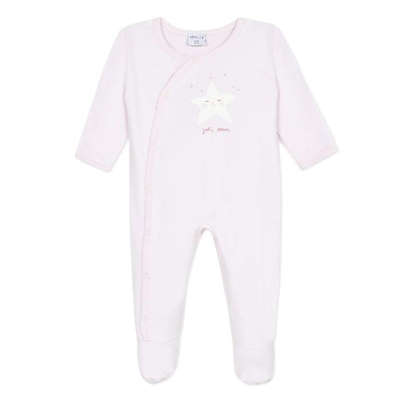 Absorba Cute Star Pink Sleepsuit