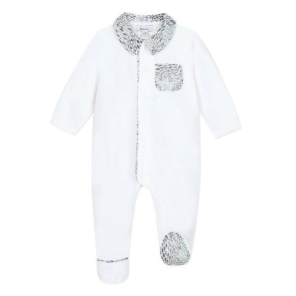 Absorba Liberty Fish Velour Sleepsuit