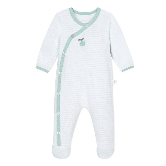 Absorba Fruit Salad Green Terry Sleepsuit