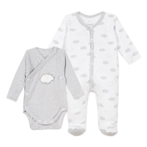 Absorba Clouds Sleepsuit Body Set