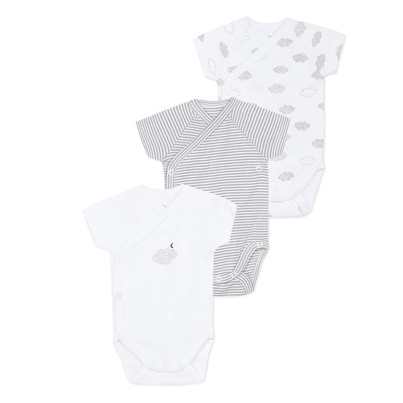 Absorba Clouds Short Sleeved White Body Set