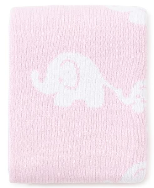 Kissy Kissy Elephant Pink Novelty Blanket