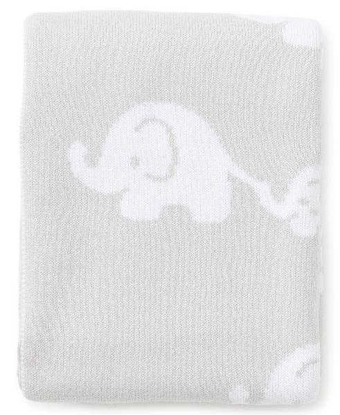 Kissy Kissy Elephant Grey Novelty Blanket