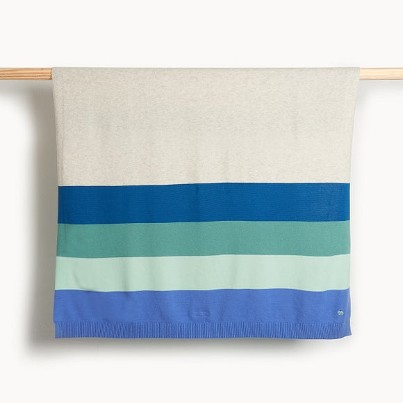 The Bonnie Mob Antigua Blue Striped Blanket