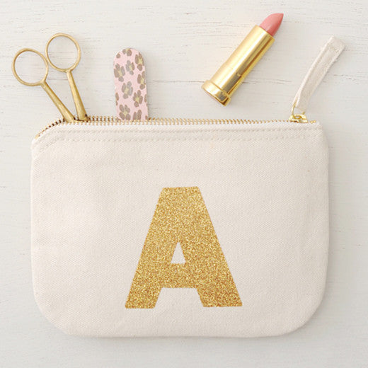 Alphabet Bags Canvas Pouch