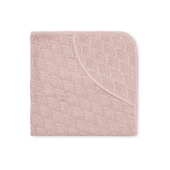 Hooded Baby Towel - GOTS Blossom Pink