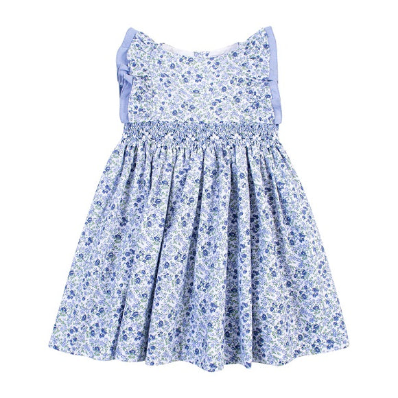 Kidiwi Clarisse Blue Printed Dress